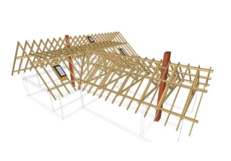 projekt budynku drewnianego